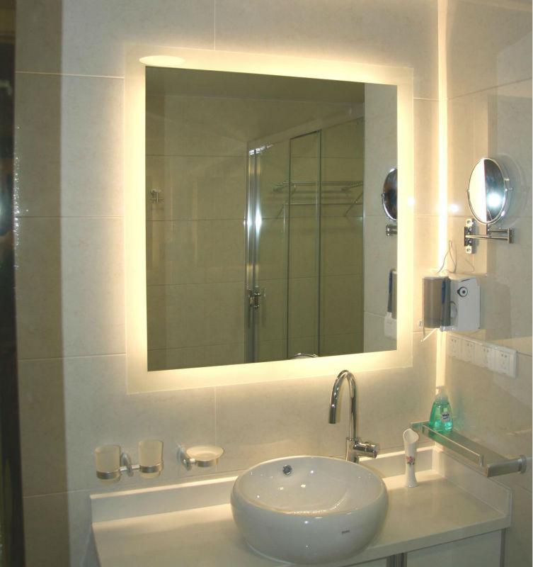 Espelhos para banheiros com luz  Decorando Casas -> Banheiro Pequeno Espelho