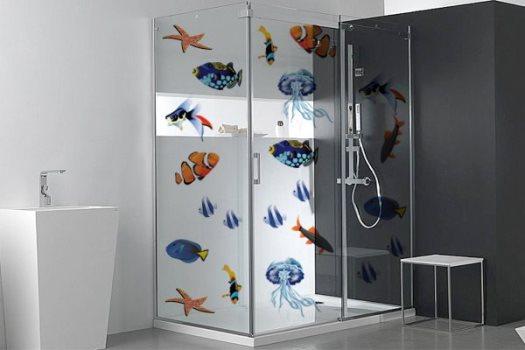 Como decorar banheiro com adesivos – Dicas decoração  Decorando Casas # Decoracao Banheiro Adesivos