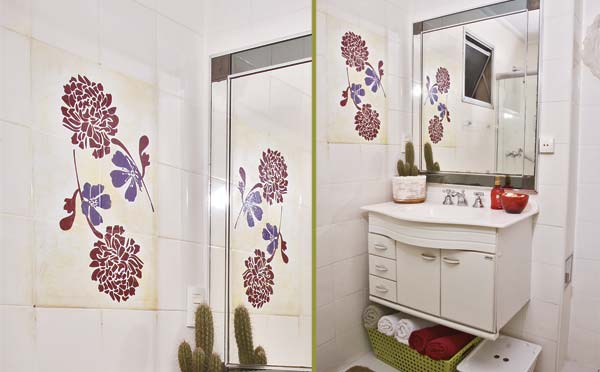decorar um banheiro : decorar um banheiro:Como decorar banheiro com adesivos – Dicas decoração