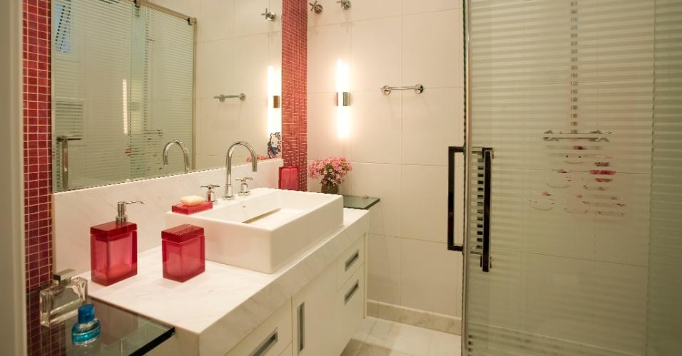 Banheiros com pastilhas vermelhas  Decorando Casas -> Banheiros Com Pastilhas Laranja