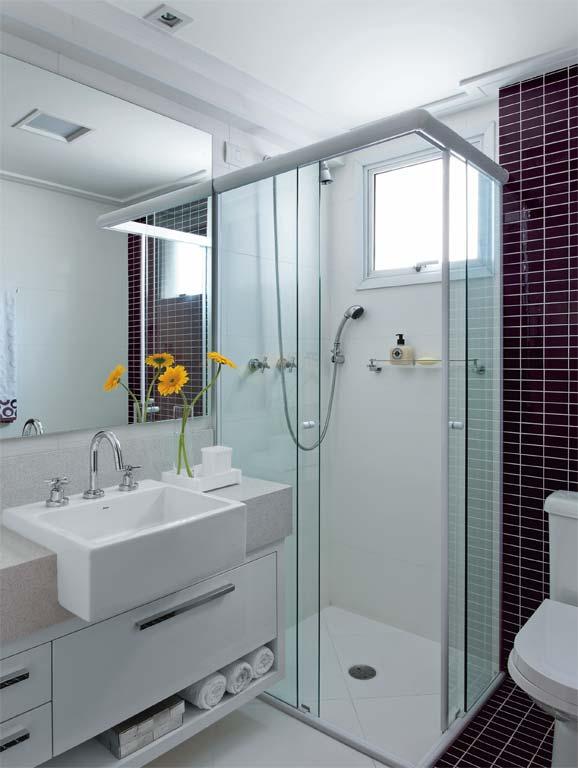 Decoração para banheiros pequenos com pastilhas  Decorando Casas -> Banheiros Pequeno Bonito