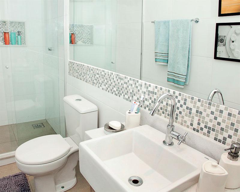 Decoração para banheiros pequenos com pastilhas  Decorando Casas -> Banheiro Pequeno Zen