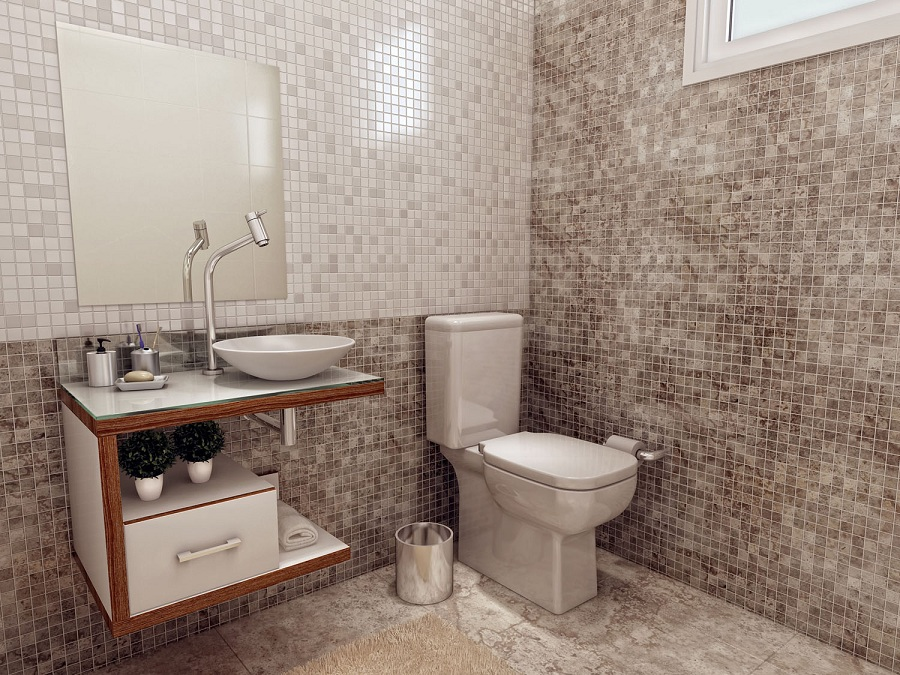 Banheiros Revestidos Simples : Decora??o de banheiros simples e pequenos decorando casas