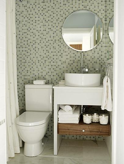 Decoração de banheiros simples e pequenos  Decorando Casas -> Banheiro Medio Simples