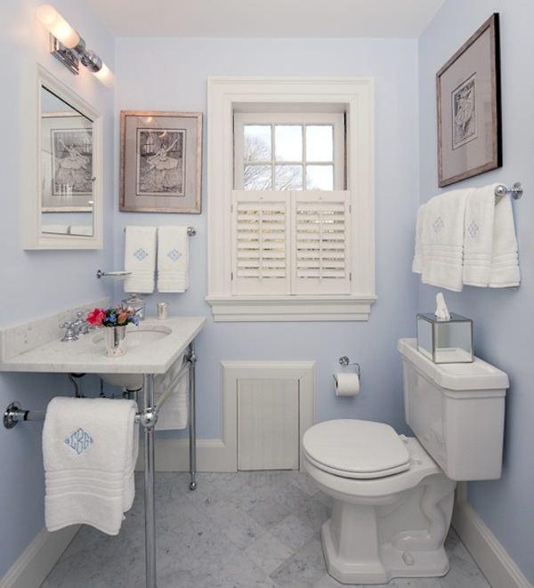 Decoração de banheiros simples e pequenos  Decorando Casas -> Banheiros Bem Simples