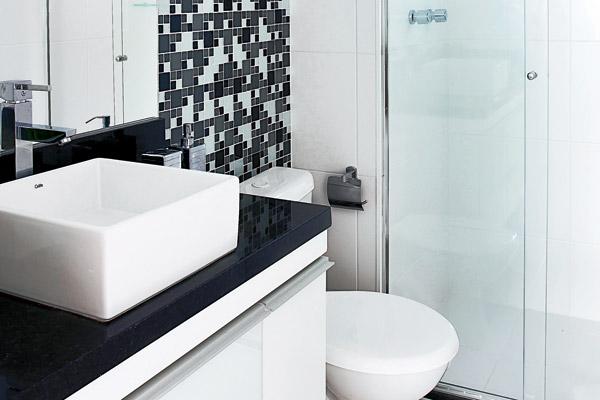 Decoração de banheiros simples e pequenos  Decorando Casas -> Decoracao Para Banheiro Pequeno Simples