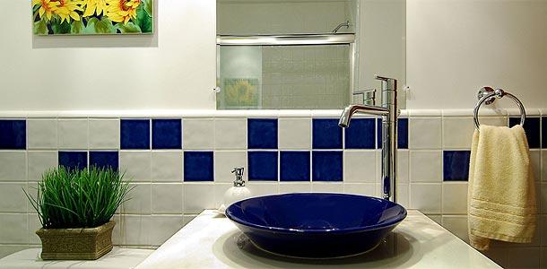 Decoração de banheiros simples e pequenos  Decorando Casas -> Banheiro Simples Com Cuba
