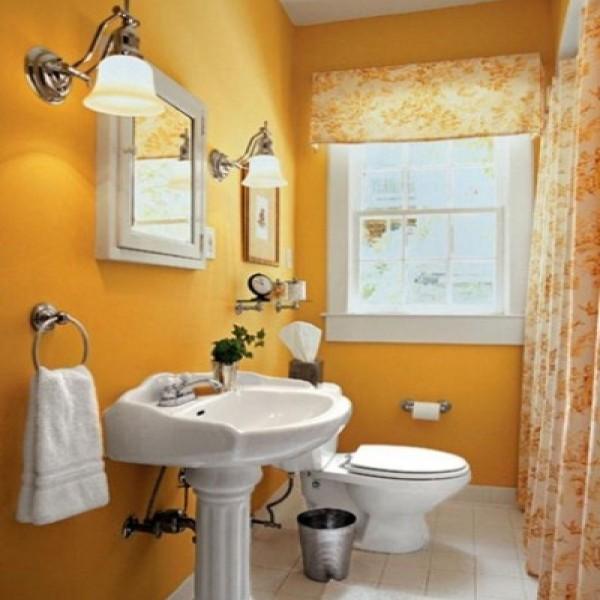 Decoração de banheiros simples e pequenos  Decorando Casas -> Decoracao De Banheiro Pequeno E Barato