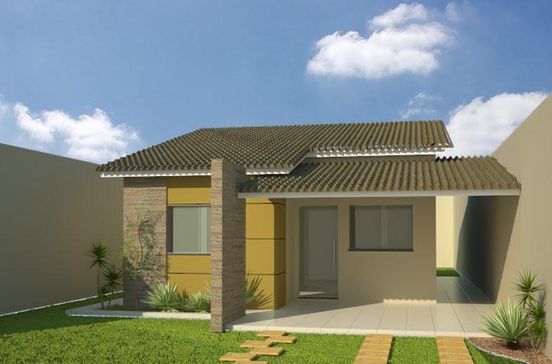 Fotos de fachadas de casas residenciais simples for Modelos de fachadas para casas pequenas