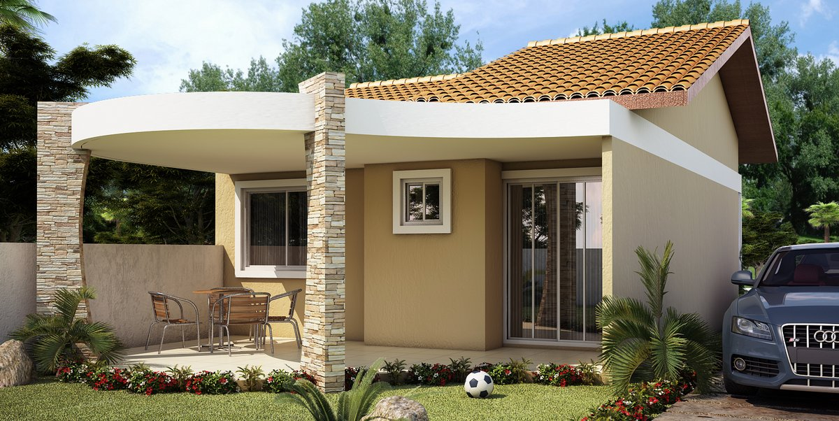 Fotos de fachadas de casas residenciais simples | Decorando Casas