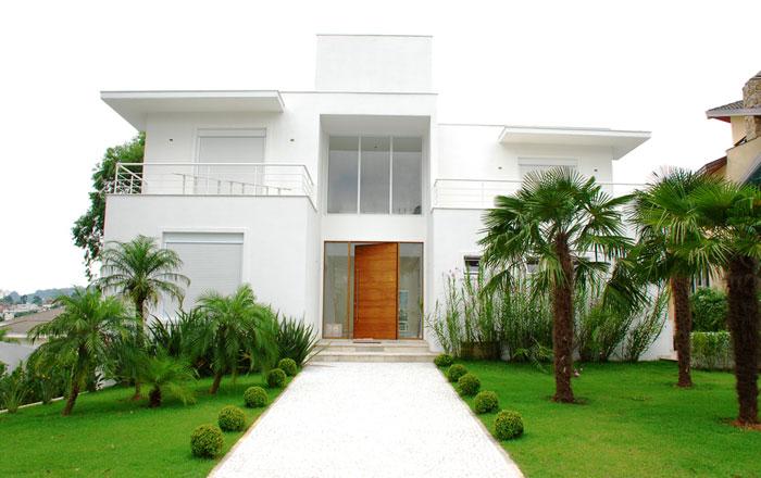 Fotos de fachadas de casas de luxo decorando casas Fachadas de entradas de casas modernas