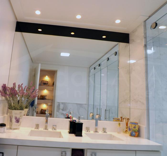 Iluminação banheiro arandela  Decorando Casas -> Gesso Para Pia De Banheiro