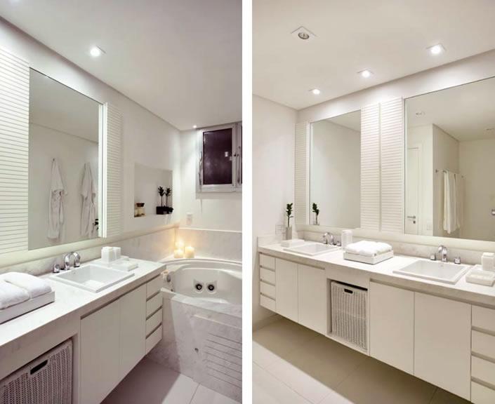Iluminação banheiro arandela  Decorando Casas -> Banheiro Decorado Com Luminaria