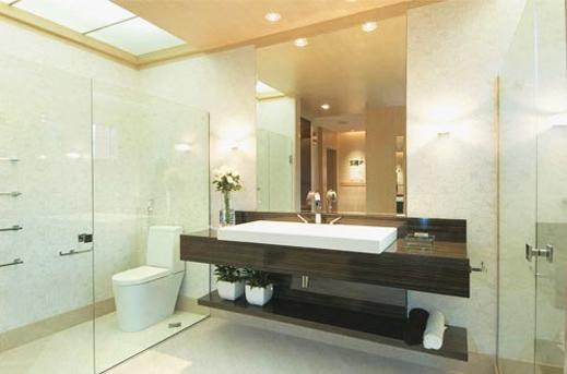 Iluminação banheiro arandela  Decorando Casas -> Decoracao De Banheiros Atuais