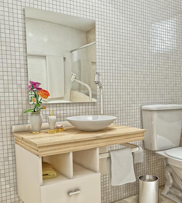 Modelos de pias para banheiro com armário  Decorando Casas -> Cesta Para Pia De Banheiro