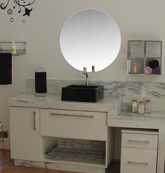 Modelos de pias para banheiro com armário  Decorando Casas -> Armario De Banheiro Com Roupeiro