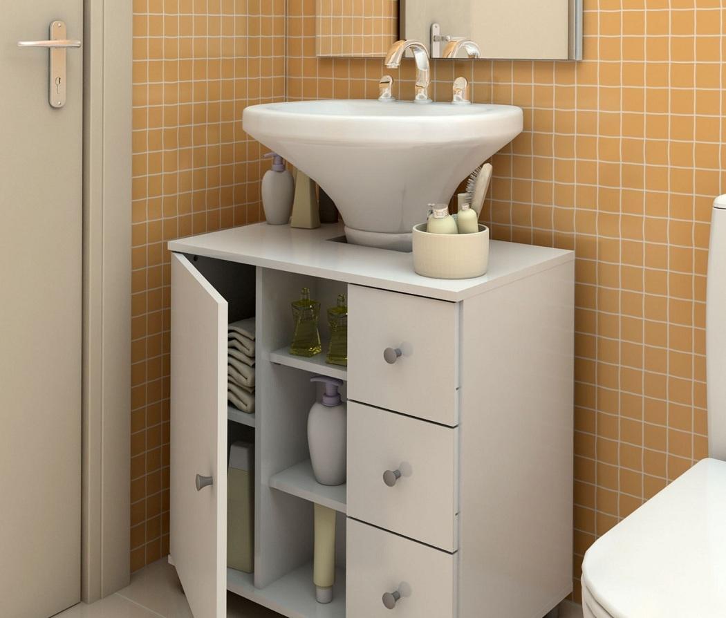 Modelos de pias para banheiro com armário Decorando Casas #8F683C 1050 894