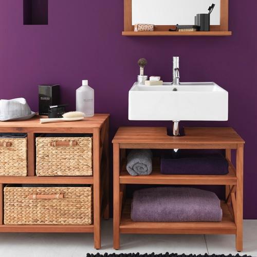 Modelos de pias para banheiro com armário  Decorando Casas -> Como Improvisar Um Armario De Banheiro