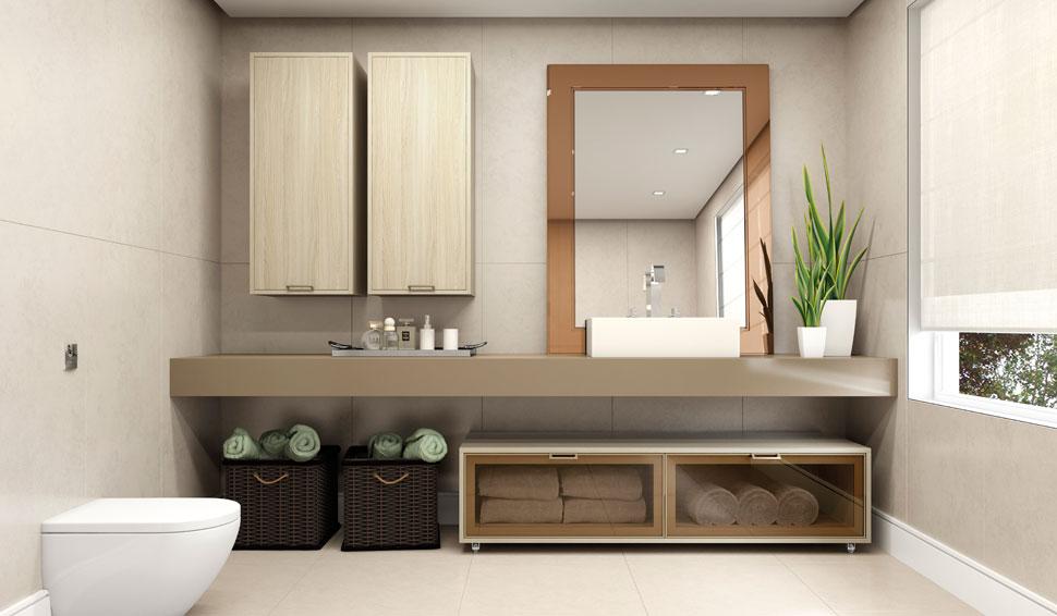 Banheiro pequeno pede um projeto de móveis planejados  Decorando Casas -> Movel Banheiro Planejado
