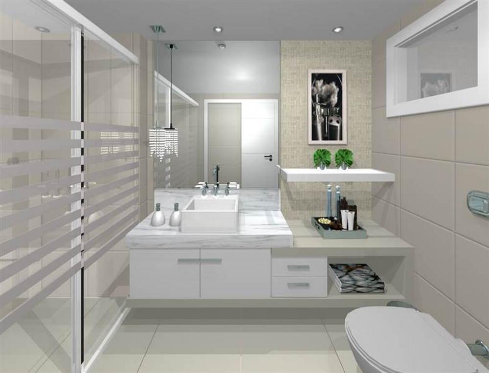 Banheiro pequeno pede um projeto de m veis planejados - Piso pequeno moderno ...