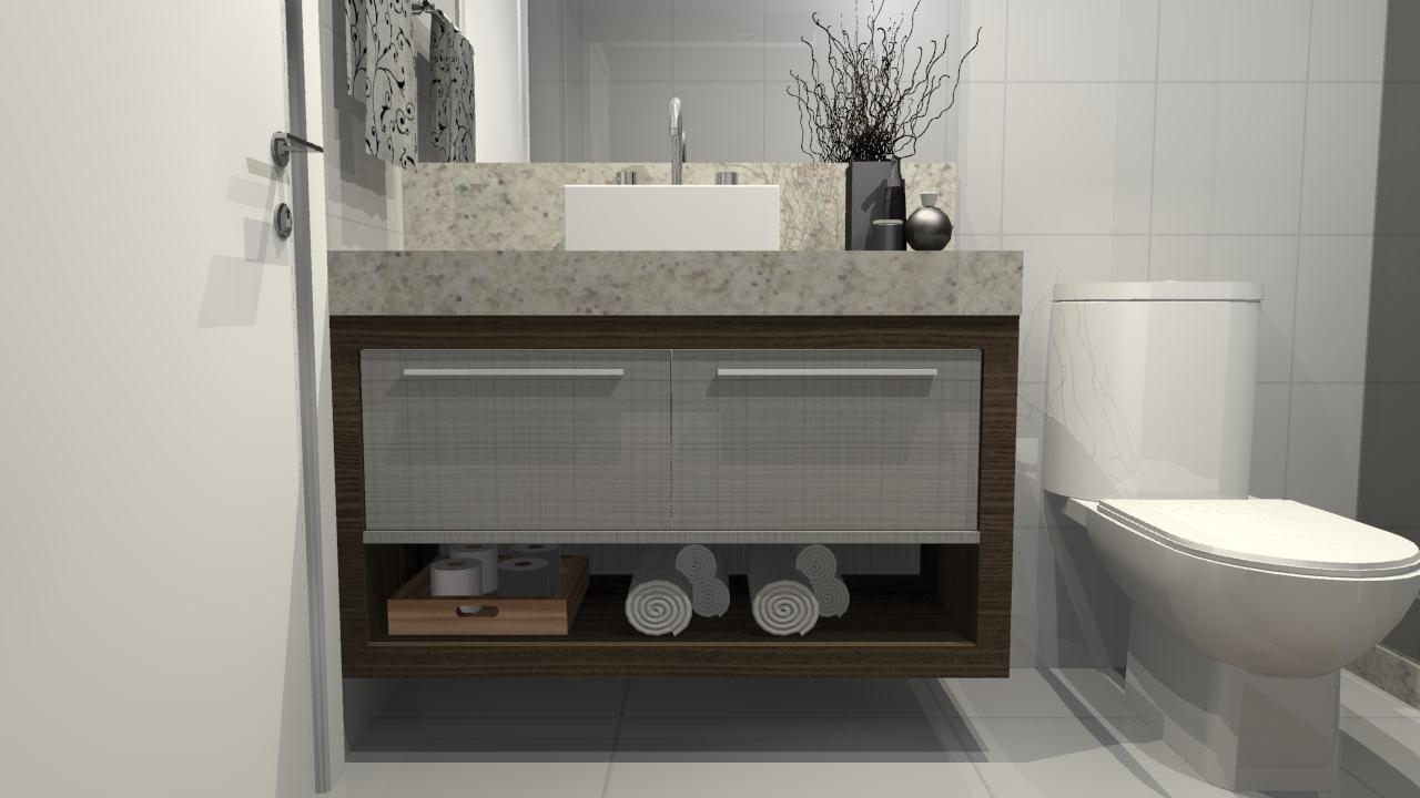 Banheiro pequeno pede um projeto de móveis planejados  Decorando Casas # Armario De Banheiro Movel