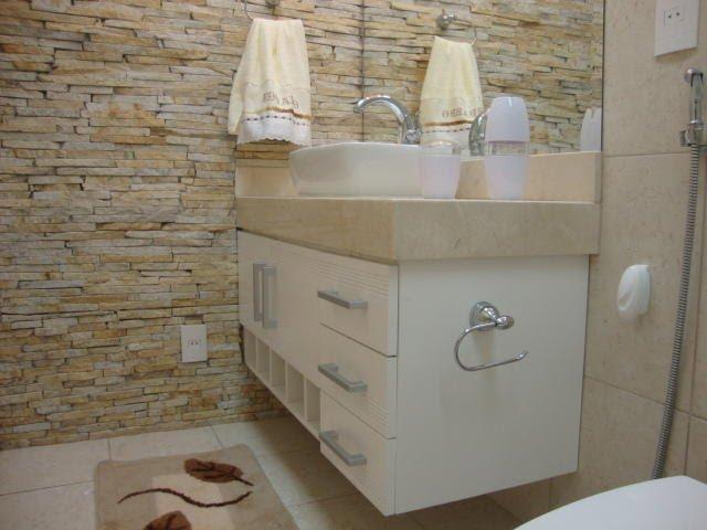 Banheiro pequeno pede um projeto de móveis planejados  Decorando Casas -> Lavatorio Banheiro Planejado