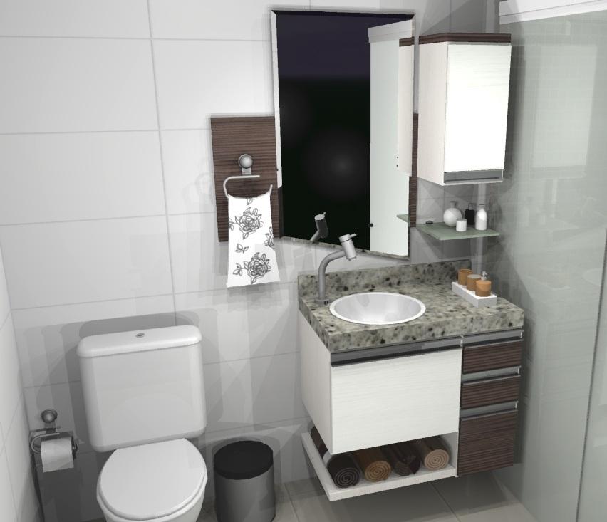 Banheiro pequeno pede um projeto de móveis planejados  Decorando Cas -> Banheiro Pequeno Moveis