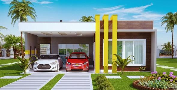 Projetos de casas com 4 quartos decorando casas for Fachadas modernas para casas pequenas de una planta