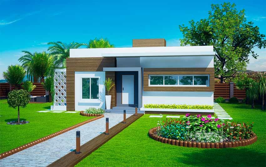Projetos de casas modernas e baratas decorando casas for Casas pequenas de una planta modernas