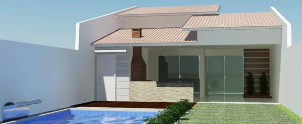 Casa etc projetos de casas modernas e baratas for Fachadas de casas pequenas modernas de una planta