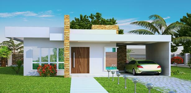 Projetos de casas modernas e baratas decorando casas for Casas modernas simples