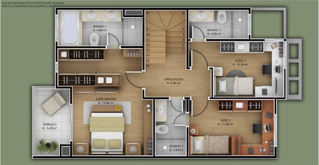 planos de casas modernas simples