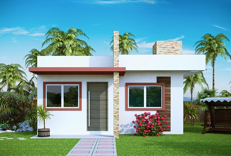 Projetos de casas modernas e baratas decorando casas for Fachadas de piedra para casas pequenas