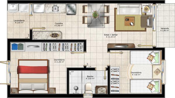 Projetos de casas modernas e baratas decorando casas - Plantas de interior baratas ...