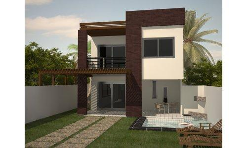 Projetos de casas modernas e baratas decorando casas for Construir casas modernas
