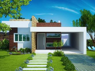 Projetos de casas modernas e baratas decorando casas for Casas modernas lindas