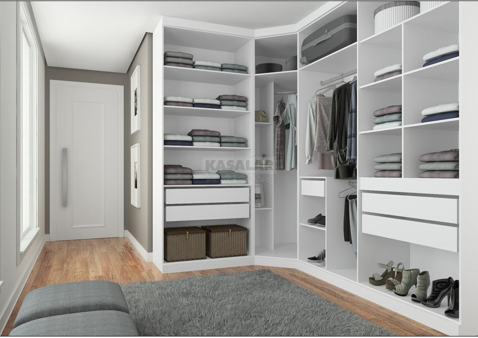 Conhecido Projetos de closet em alvenaria   Decorando Casas HL72