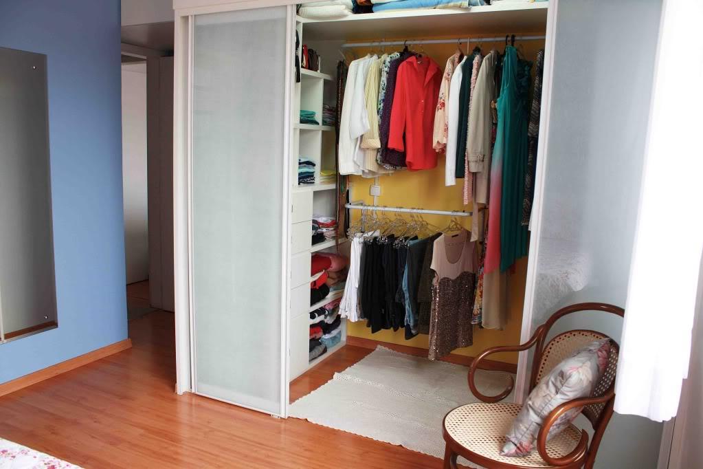 Projetos de closet em alvenaria decorando casas for Closets para apartamentos pequenos
