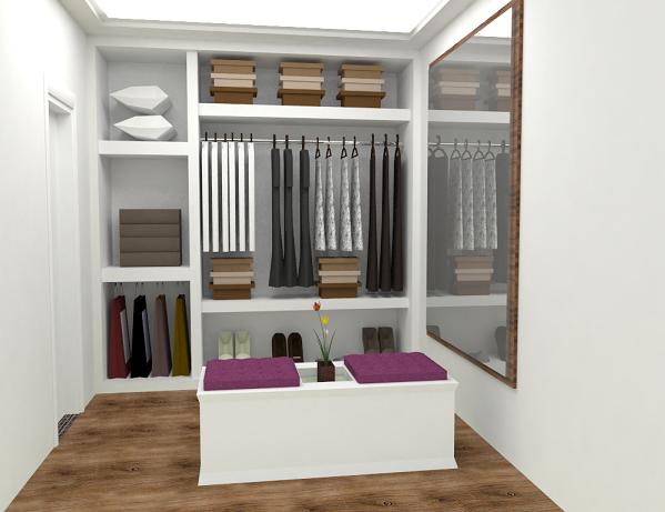 Projetos de closet em alvenaria decorando casas for Modelos de closets