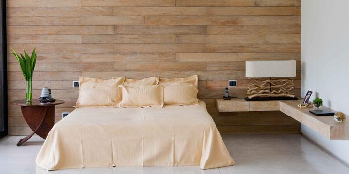 Revestimento Parede Interna Quarto ~ Revestimento de parede para quarto casal  Decorando Casas