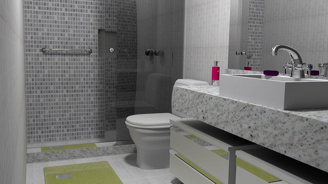 revestimento banheiro moderno -> Banheiro Moderno Revestimento
