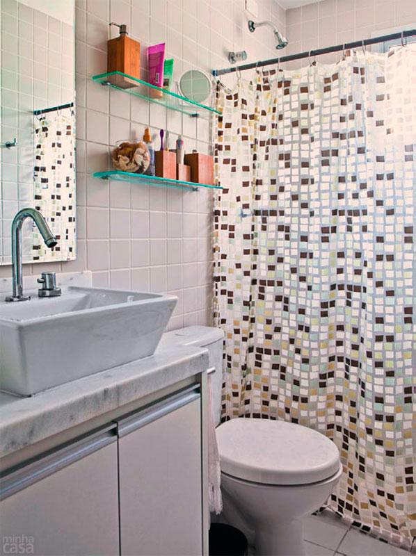 Revestimentos para banheiros pequenos  Decorando Casas -> Banheiros Muito Simples