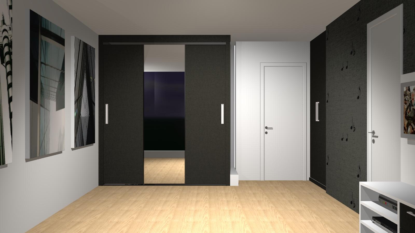 Modelos de armários para quarto com porta de correr  Decorando Casas