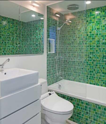 Dicas de banheiros decorados com pastilhas  Decorando Casas -> Banheiros Decorados Com Pastilhas Amarelas