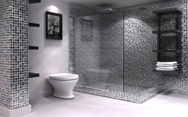 Dicas de banheiros decorados com pastilhas  Decorando Casas # Banheiro Decorado Com Material Reciclado