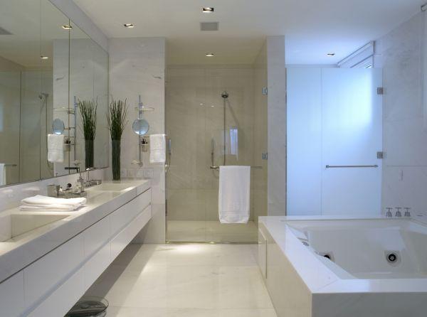 Dicas Banheiros Modernos Decorados Pictures to pin on Pinterest -> Decoracao De Banheiros Com Banheiras Fotos