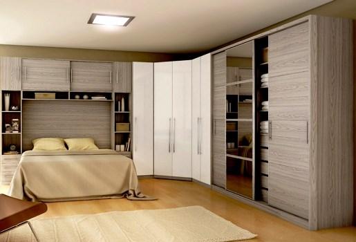 Closets modernos e planejados para quarto Decorando Casas ~ Quarto Casal Moderno Planejado