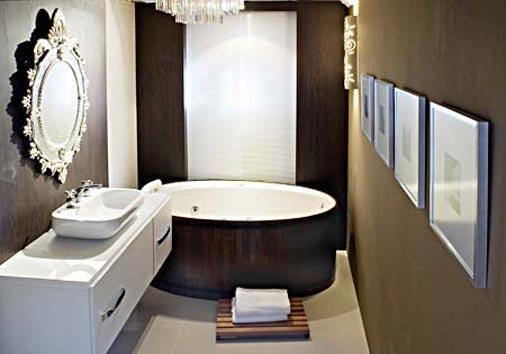 Modelos de ofurô para banheiros  Decorando Casas -> Banheiro Pequeno Ofuro