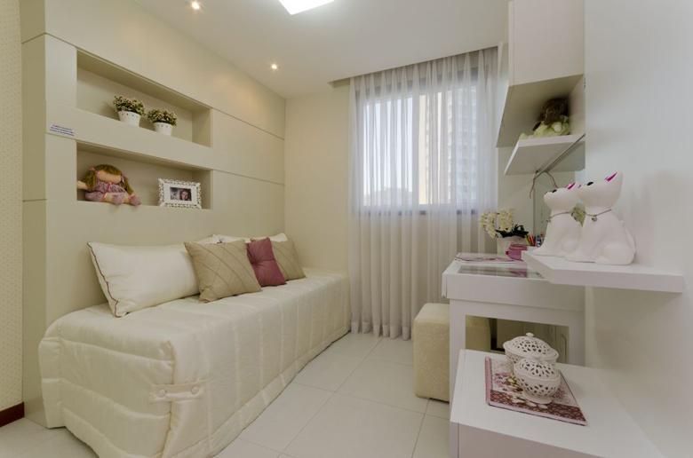 decoracao de apartamentos pequenos femininos:Móveis planejados para quartos de meninas