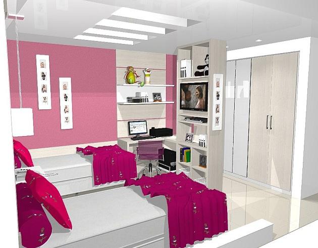 Móveis planejados para quartos de meninas Decorando Casas ~ Quarto Planejado Infantil Italinea